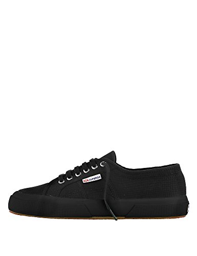 Superga Black Full Sneaker Women's 2750 Cotu BAOXFBr