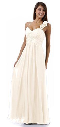 Abschlussball Damen Hochzeit Brautjungfernkleid lang Abendkleid Boho Kleid Chiffonkleid Kleid für elegant Purple Empire na6xvYR