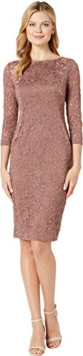 - Marina Women's Short Slim Long Sleeve Dress with Illusion Side Panels CAF¿ 12