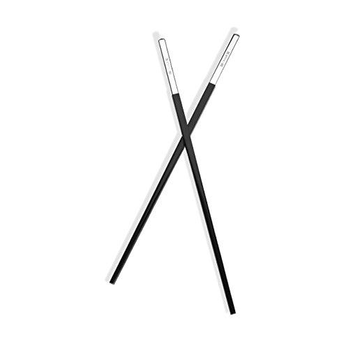 Christofle Silver Plated Uni Black Chinese Chopsticks - Silver Christofle Flatware