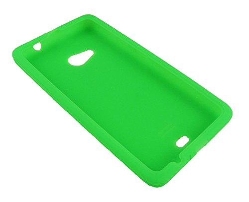 Emartbuy® Microsoft Lumia 535 / Lumia 535 Dual Sim Gel Piel Case Cover Paws Verde Silicon