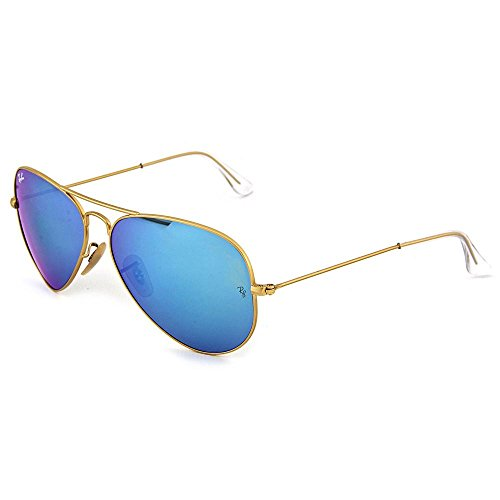 Ray Ban 3025 Aviator Gold Metal Frame Blue Lens 58mm - Blue Aviators Ray Ban Frame