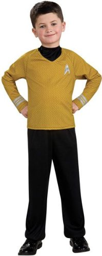 Star Trek Red Shirt Kids Costumes (Star Trek Movie Child Costume Gold Captain Kirk - Medium)