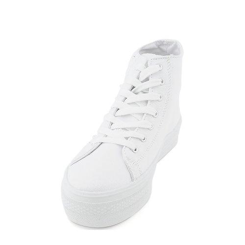 Shiekh Womens plat Casual Sneaker – White Size 8.5