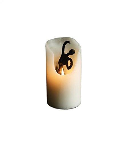 Design Ideas Spirit Candles- Hidden Sculpture White Pillar Candle, Dance (Candle Sculpture)