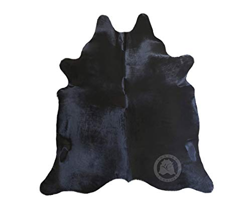 Sunshine Cowhides Black Cowhide Rug Dyed Approx. Size 6ft x 8ft 180cm x ()