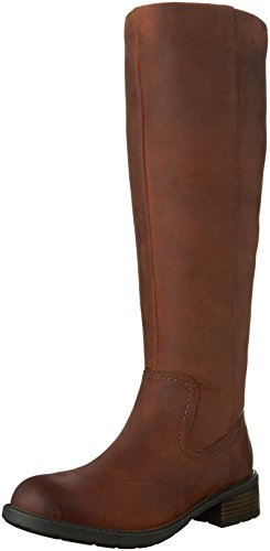 Clarks Women's Swansea Glen Waterproof Riding Boot,Tan Cow Full Grain Leather,US