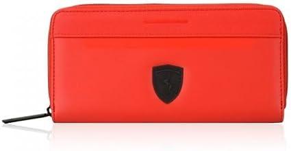 Portefeuille Ferrari avec Fermeture /éclair Noir OU Rouge