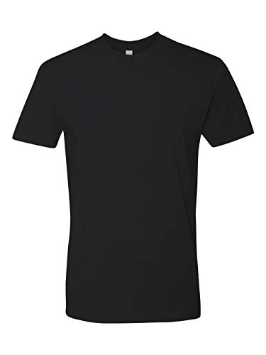 Next Level Mens Premium Fitted Short-Sleeve Crew T-Shirt - Large - Black from Next Level