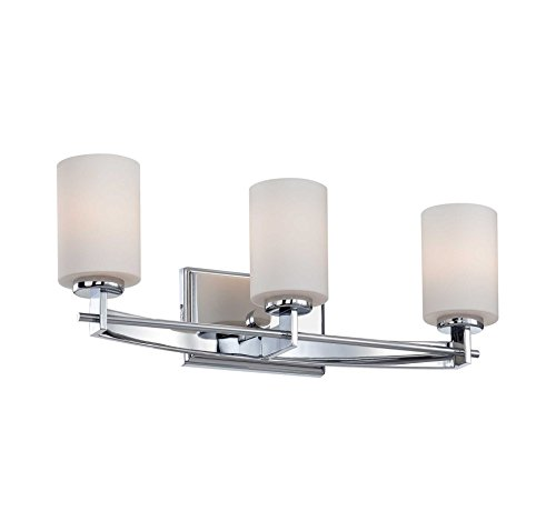 TY8603C Three Light Taylor Bath Light in Polished Chrome