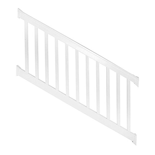 Weatherables Vanderbilt 36 in. x 72 in. Vinyl White Stair Railing Kit