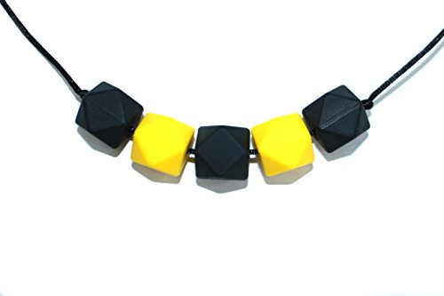 Designer Teething Necklace Silicone Steelers