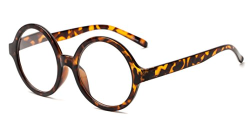 Readers.com The Architect +2.50 Brown Tortoise Thick-Rimmed Oversized Round Reading - Oversized Round Readers