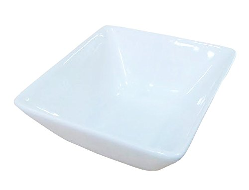 "1 Dz White Porcelain Square Sauce / Side Dishes (4"" x 3.75"" x 1.75""H)"