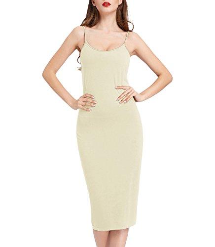 Spaghetti Strap Slip Dress - Kate Kasin Adjustable Spaghetti Strap Under Dress Liner for Women Beige,S KK881-2