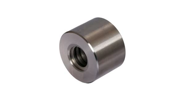 Tr.14x4 Single Start Right Length=21mm Outer Diameter=30mm Round trapezoidal leadscrew nut C35 Pb