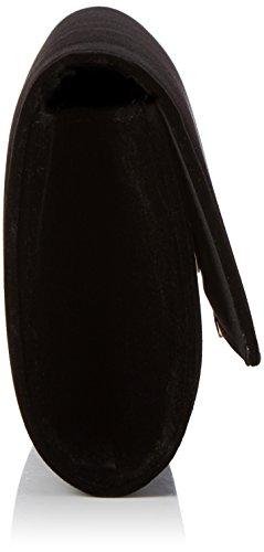 Buffalo Bag Bwg-05 Velvet - Pochette da giorno Donna, Schwarz (Black 01), 4x13x25 cm (B x H T)