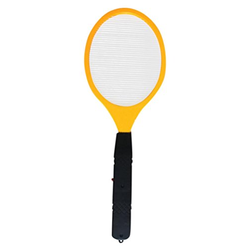 Swatter,Vanvler Fly Bug Large Electric Mosquito Killer Racket for Indoor Outdoor Pest Control (Yellow)