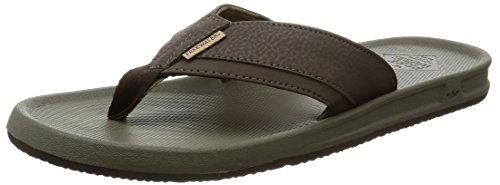 an Flip Flop Sandal, Brown/Olive, 9 M US (Custom Flip Flops)