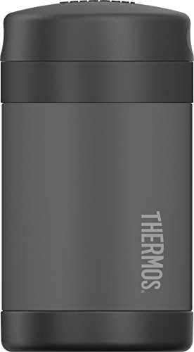Thermos Funtainer Food Jar with Spoon, 16 Ounce, Charcoal
