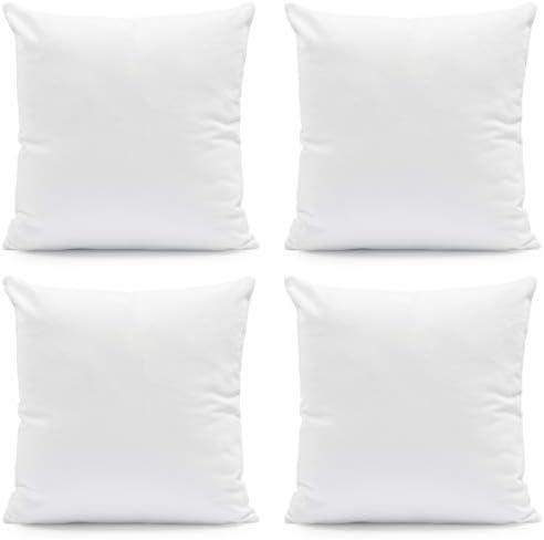 Hannah Linen Throw Pillow Insert Set of 4 Soft