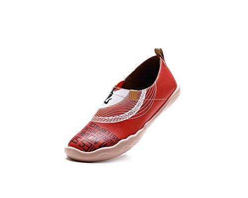 Shoe Slip Leather Painted Novak Red Women's on UIN AqtInYC