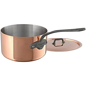 Mauviel M'Heritage M150C 6450.17 Copper Saucepan with Lid. 1.7L/1.9 quart 16cm/6.3