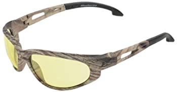 Edge Eyewear SW112CF Dakura Safety Glasses, Camouflage with Yellow Lens
