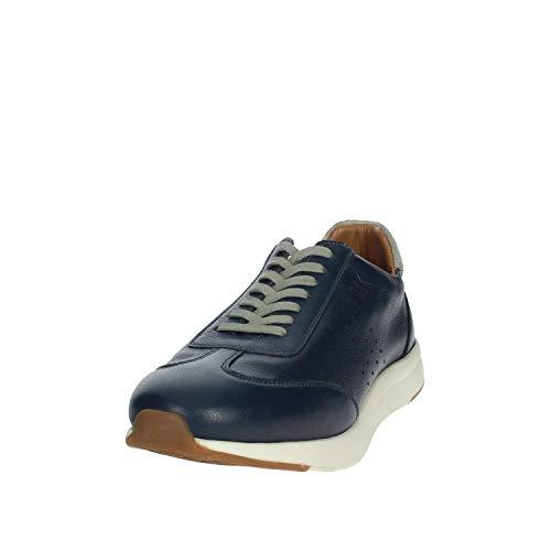 001 Sneakers Sm62505 Pelle Lumberjack Uomo Vera Stringate Robert Blu Azul vBwRRq6