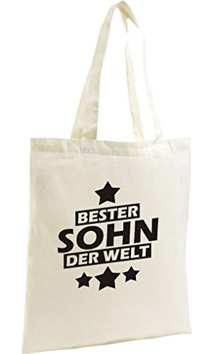 Shirtstown Bolso De Compras Orgánico Zen, Shopper mejor Sohn der Welt natural