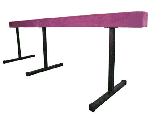 "Gymnastic WOOD Balance Beam 16ft Balance Beam (SECTIONAL) W/ 24"" RISERS PINK"