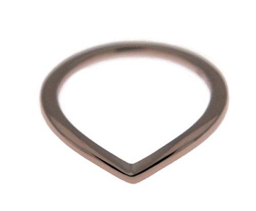 Gold Wishbone Rings (PANDORA Shining Wishbone Ring, Rose Gold, 186314-56)