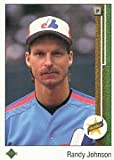 expo display - 1989 Upper Deck # 25 Randy Johnson (RC) Rookie Card -Montreal Expos / MLB Baseball Card in Protective Display Case!