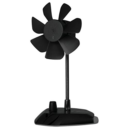 ARCTIC Breeze - USB Desktop Fan with Flexible Neck and Adjustable Fan Speed I Portable Desk Fan for Home, Office I Silent USB Fan I Fan Speed 800-1800 RPM - Black Hybrid Full Range