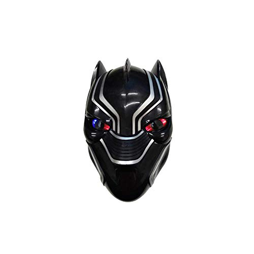 Avengers LED Light Eye Mask, Super Hero Costume Mask Iron Man Batman Party Cosplay Mask (Black Panther)