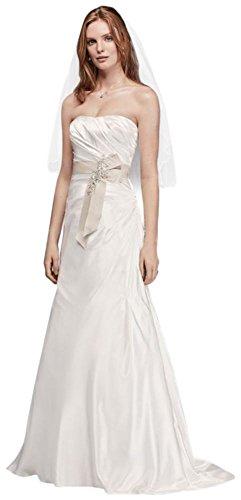 Charmeuse Une Ligne Style Robe De Mariée Bustier Op1292 Doux Blanc / Champagne