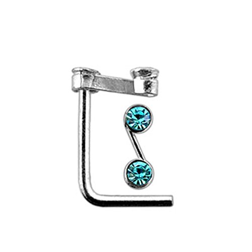 Nose Studs Aquamarine Gem Buy Online In Brunei Nose Studs