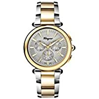 Ferragamo Idillio Silver Dial Men's Two Tone Watch
