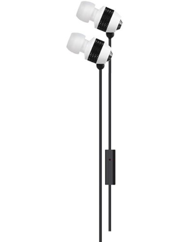 Delton 3.5 mm Stereo Sound Ear Buds With Mic, For All Apple Ipads, Ipods, Iphones, Androids, Mp3 Players, And All Audio Devices Using A 3.5 mm Jack-White