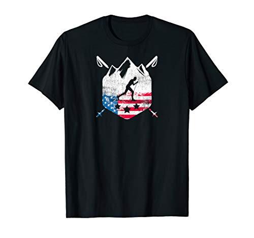 American Flag Telemark Cross Country Skier Patriotic ()