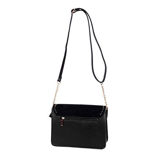 Vendimia Cowboy occidental Mini Oro Tote Idea Cadena Anillos Regalo Moda Borse Mujer Western Angkorly Clutches Envelope Tachonado Elegante Crossbody Estudiante retro Negro Bag Bandolera De fpqaA