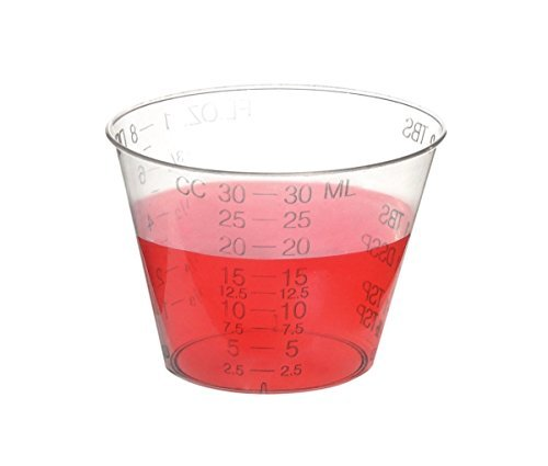 Oz 1 Cups Mixing (Uben Disposable Graduated Measuring Plastic Medicine Cups 1 Ounce (1000 Pack))