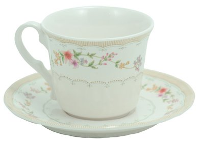 - Royal Opera Durable Plastic Teacup with Saucer (Full Size)