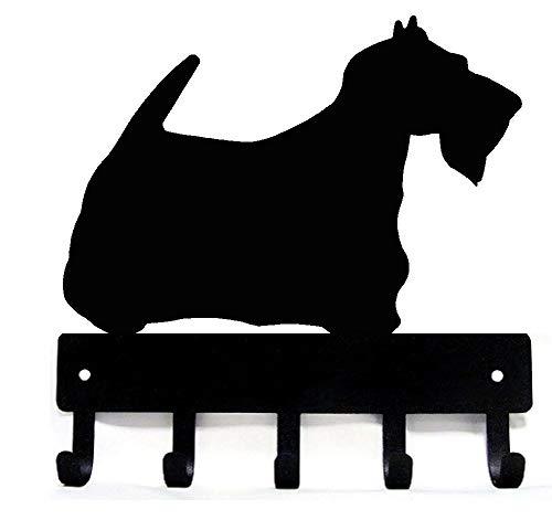 The Metal Peddler Scottish Terrier Scottie Dog - Key Hooks & Holder - Small 6 inch Wide