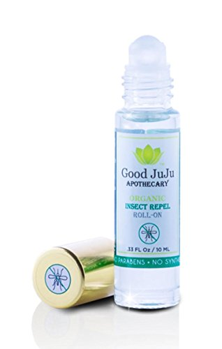 Good JuJu Apothecary All Natural Bug Repel Roll On Oil. Plant Based Organic Insect and Mosquito Repellent with Essential Oils of: Citronella, Lemon Eucalyptus and Lemongrass. No Deet. Safe for Kids.