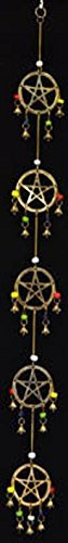 Cheap AzureGreen FW505 Long Pentagram Wind Chime 32 in. /RM#G4H4E54 E4R46T32542207