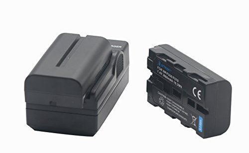 NP-F550 Artman 2-Pack Replacement Battery Kit With One Battery Charger Set for Sony NP F970, F750, F770, F960, F550, F530, F330, F570, CCD-SC55, TR516, TR716, TR818, TR910, TR917 and more by A-man