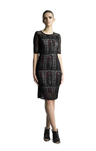 Historic New York Women's Stained Glass Windows Evening Dress, Black, Large