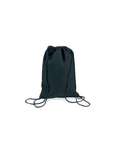 FE Plain Denim Drawstring Backpack