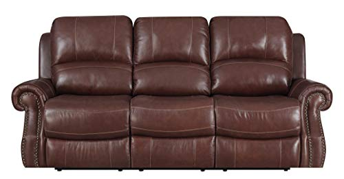 Sunset Trading SU-EM1193-304 Emerald Reclining Sofa, Cognac Brown ()